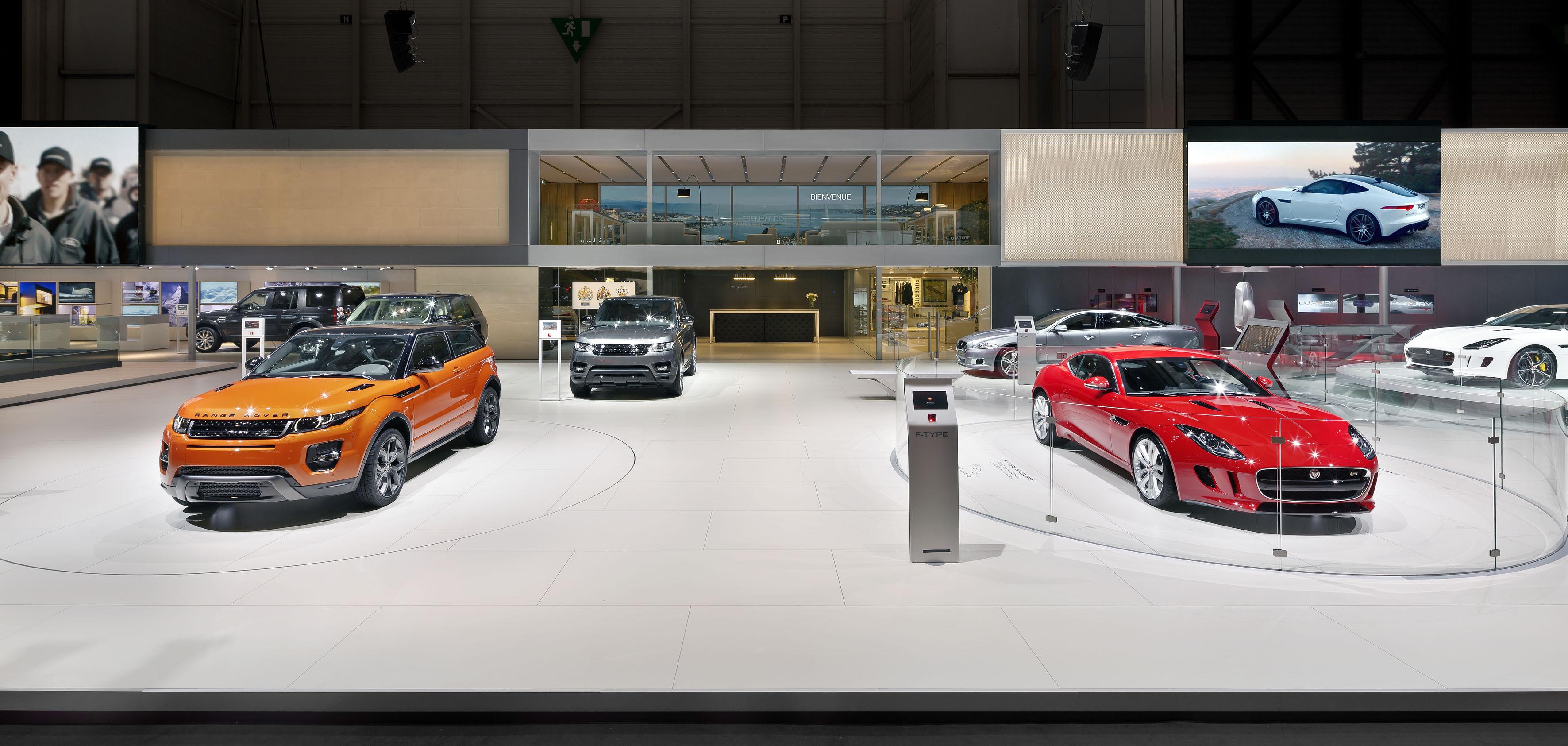 Jaguar Land Rover Show Ultra Thin Porcelain
