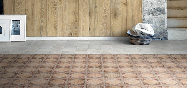 Moroccan pattern style floor tiles
