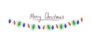 merry christmas with christmas lights