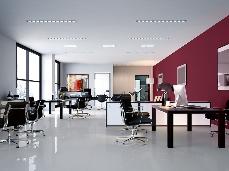 Absolute-Thassos-thin-format-porcelain-tile-commercial-offices