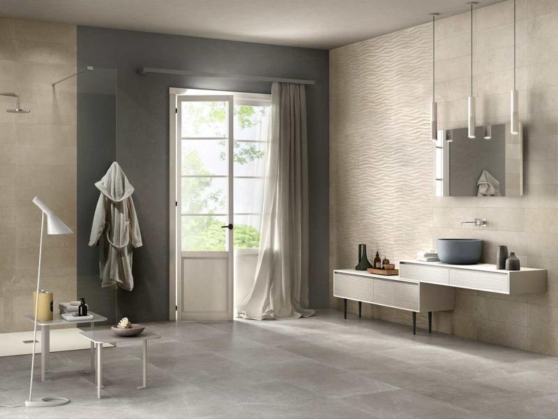 Kinorigo – Aurora Greige – Aurora Sand – Bathroom Area