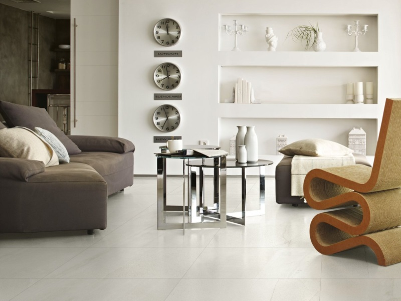 Kinorigo – Basaltino Bianco – living room