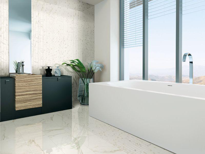 Kinorigo – Technical Marble Calacatta_Bathroom