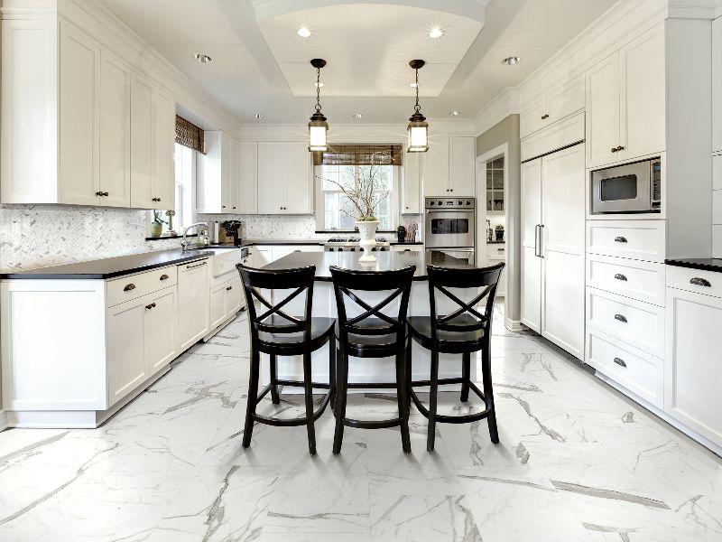 Kinorigo – Technical Marble Statuario – Kitchen