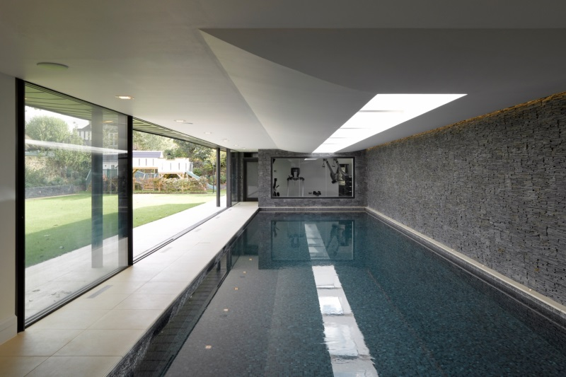 slip resistant porcelain floor tiles indoor pool area