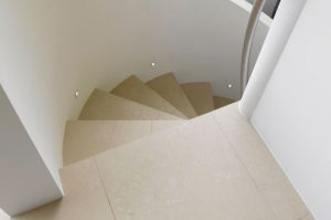 marble spiral staircase flooring