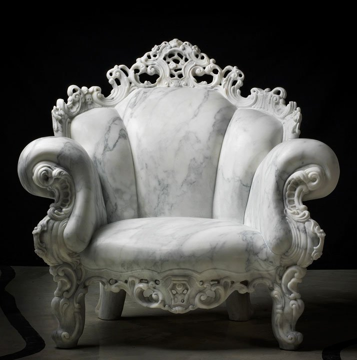 detailed marble chair