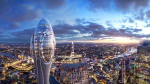 proposal for tall tulip shaped building in London