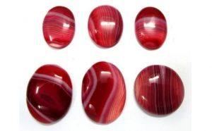 6 red onyx stones