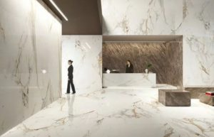 marble effect reception entry area