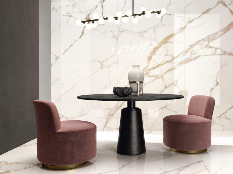 Diola Calacatta – Kinorigo – Vein-matched – dining room